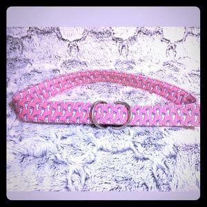 Vineyard Vines VV Pink Barefoot Feet Print Belt